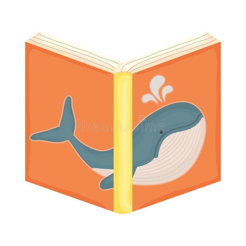 Icona aperta del libro di testo illustrazione vettoriale