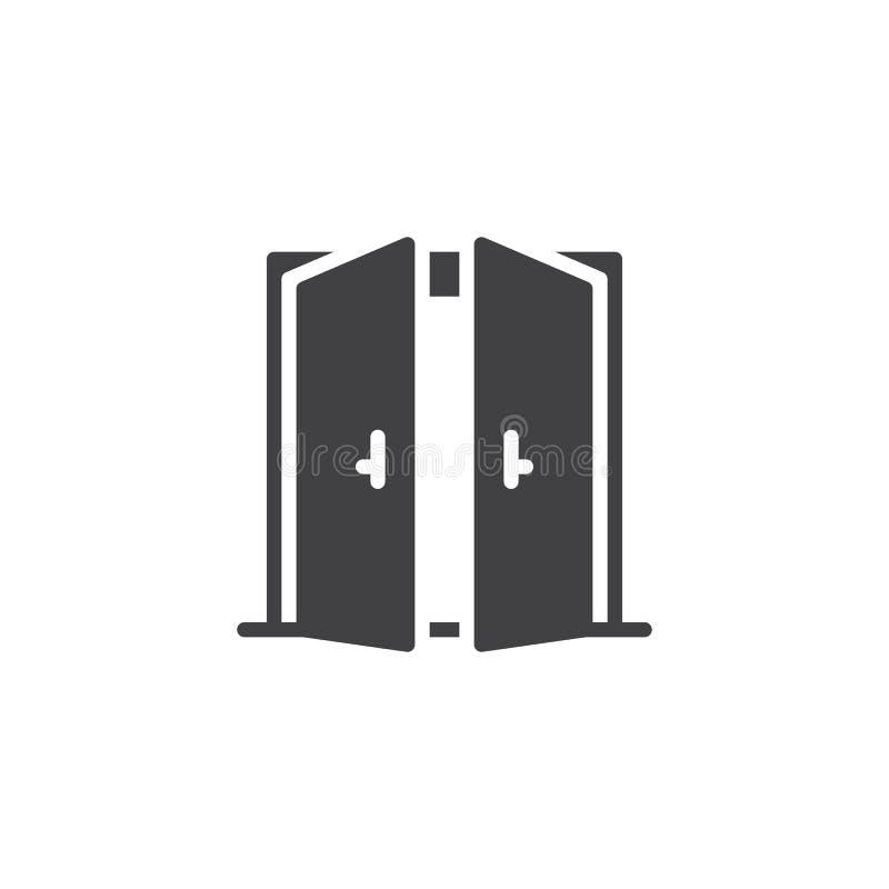 Icona aperta di vettore della doppia porta illustrazione vettoriale
