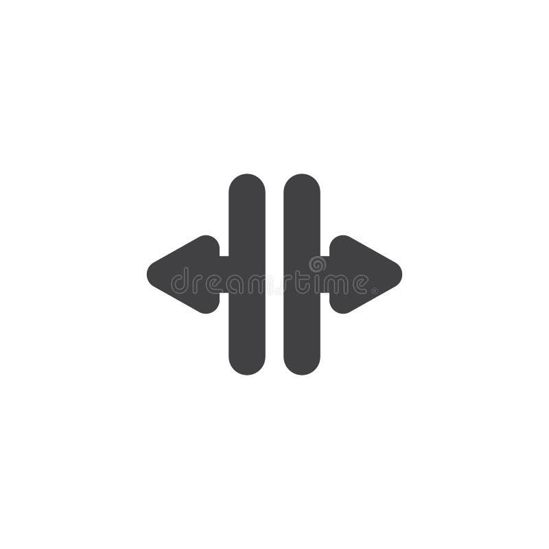 Icona aperta di vettore delle frecce della porta dell'elevatore illustrazione vettoriale