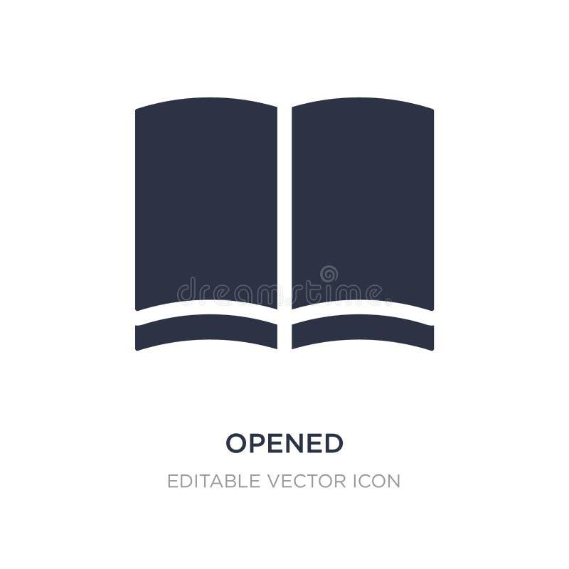 icona aperta su fondo bianco Illustrazione semplice dell'elemento dal concetto di istruzione royalty illustrazione gratis