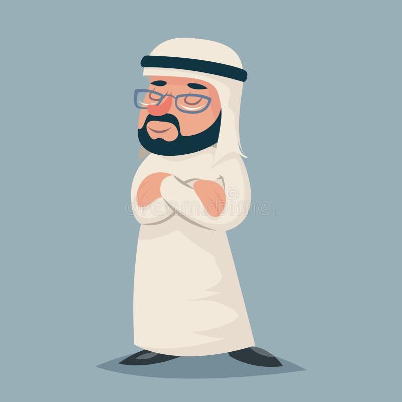 Icona araba d'annata del carattere di Standing Proud Clever dell'uomo d'affari del vincitore sul retro vettore di progettazione d illustrazione di stock
