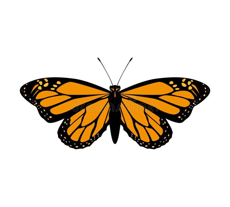 Icona arancio della farfalla Progettazione dell'insetto Grafico di vettore royalty illustrazione gratis