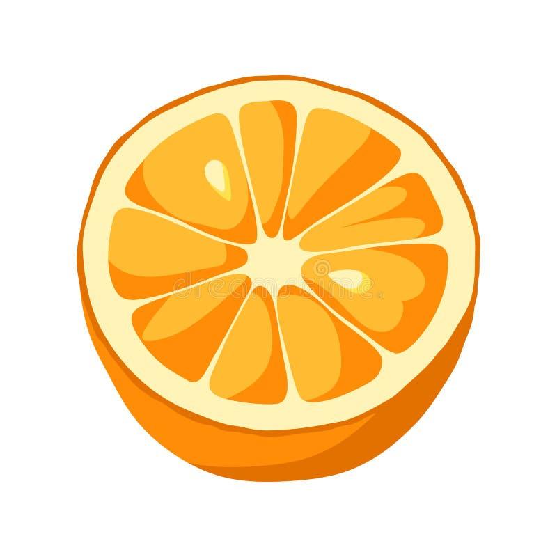 Icona arancio della fetta illustrazione vettoriale
