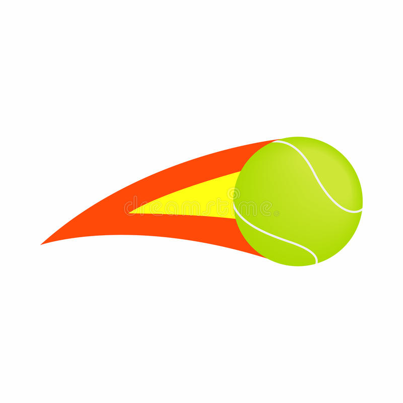Icona ardente della pallina da tennis, stile isometrico 3d illustrazione vettoriale