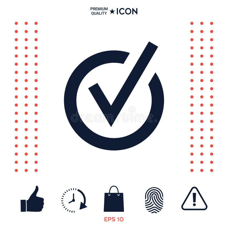 Download Icona Arrotondata Del Segno Di Spunta Illustrazione Vettoriale - Illustrazione di assegno, qualità: 117976656