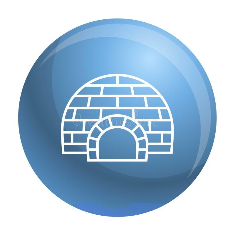 Icona artica dell'iglù, stile del profilo illustrazione di stock