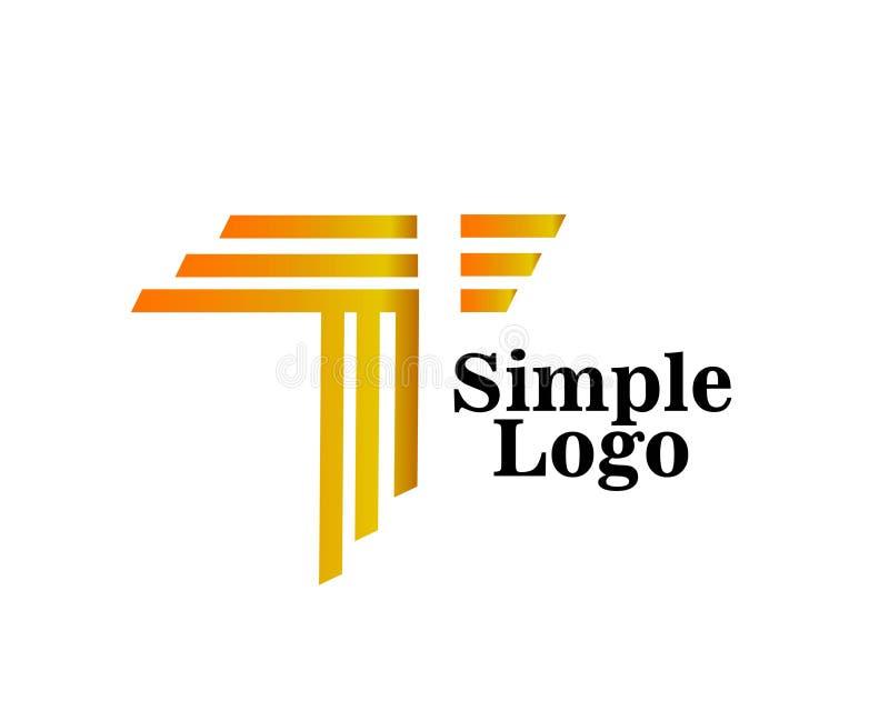 Icona artistica dell'estratto semplice di logo illustrazione vettoriale