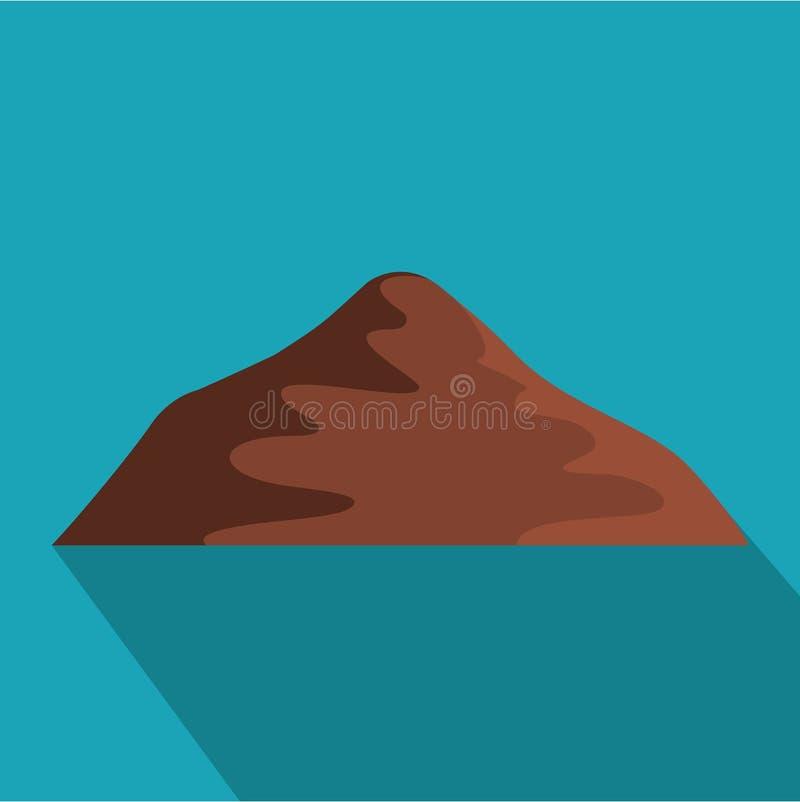 Icona asiatica della montagna, stile piano royalty illustrazione gratis