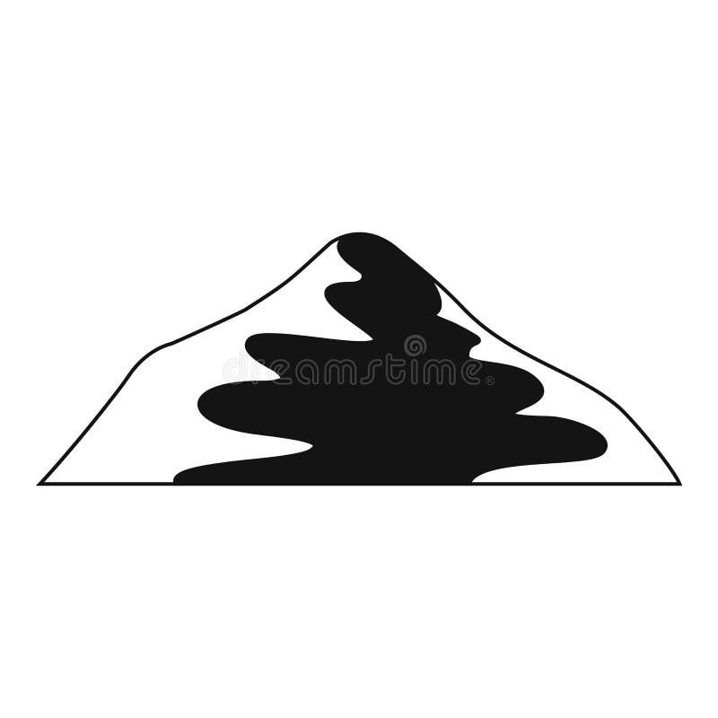 Icona asiatica della montagna, stile semplice royalty illustrazione gratis