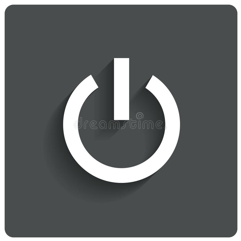 Icona astratta del bottone di potere. Spenga il simbolo. royalty illustrazione gratis