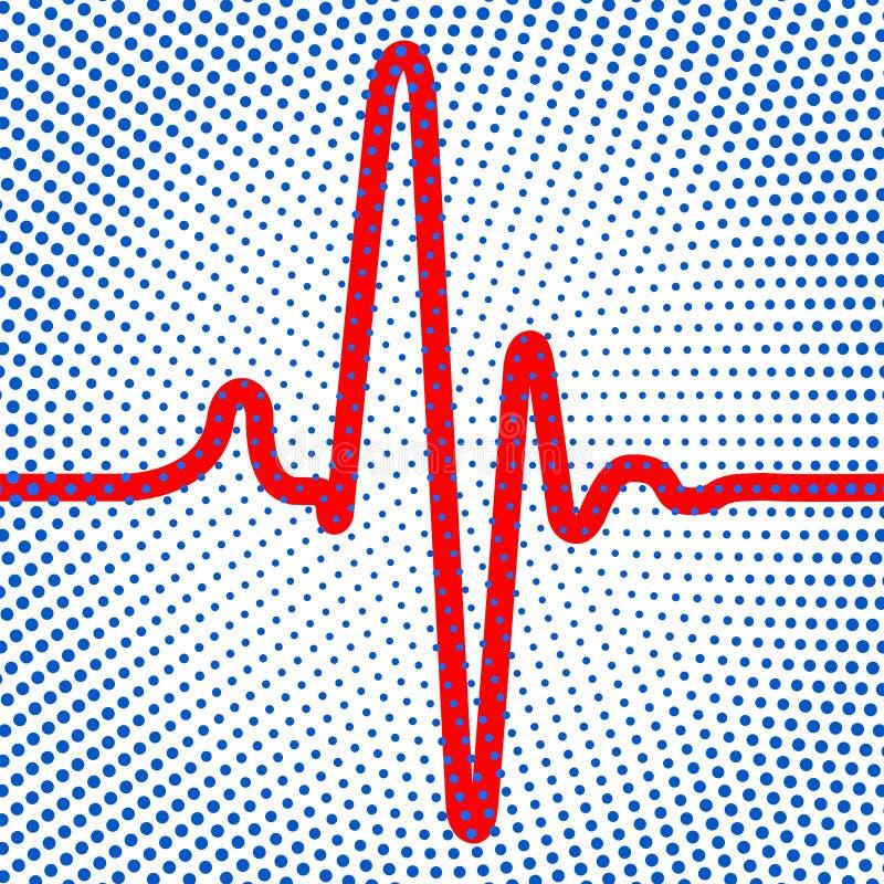 Icona astratta del cardiogramma illustrazione di stock