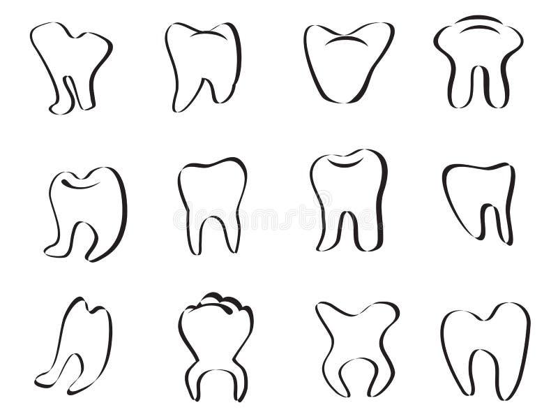 Icona astratta del dente illustrazione vettoriale