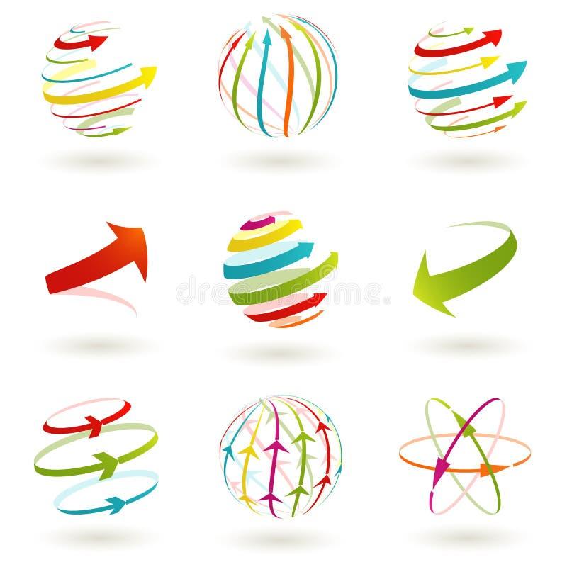 Icona astratta del globo. immagine stock