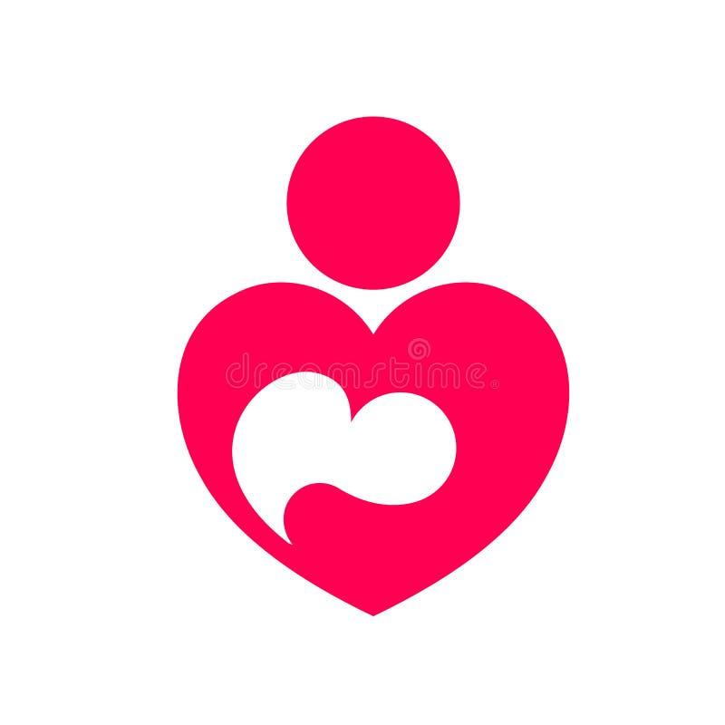 Icona astratta dell'amore materno royalty illustrazione gratis