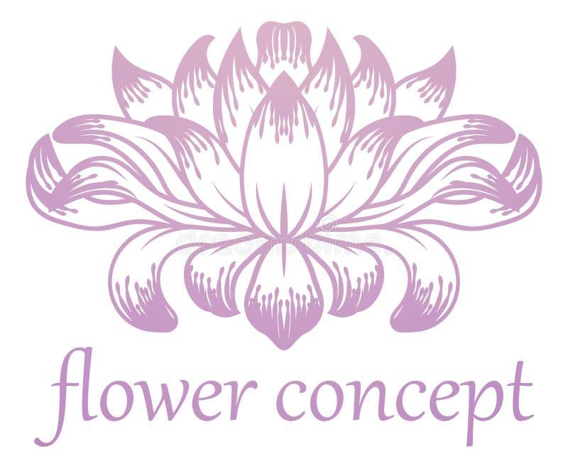 Icona astratta floreale di concetto del fiore illustrazione di stock