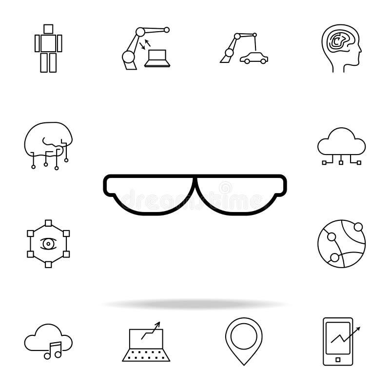 icona astuta degli occhiali da sole Insieme universale delle icone di nuove tecnologie per il web ed il cellulare royalty illustrazione gratis