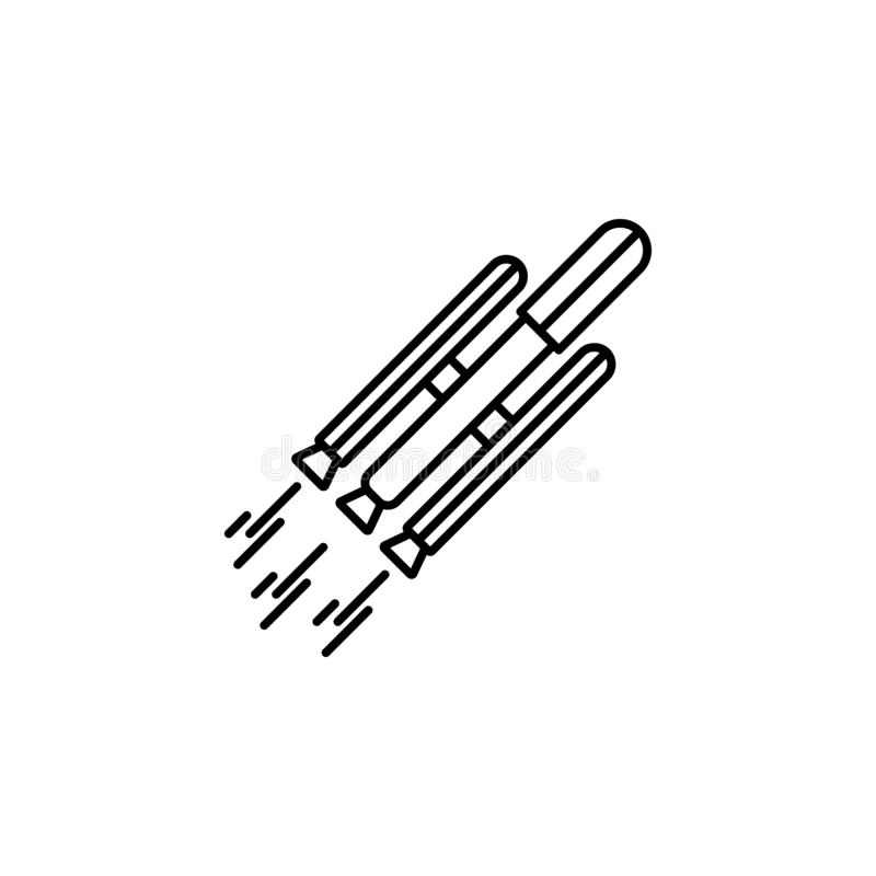 Icona astuta del razzo di Rocket Elemento dell'icona futura di tecnologia per i apps mobili di web e di concetto Linea sottile ic illustrazione vettoriale