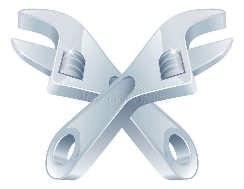 Icona attraversata dello strumento delle chiavi royalty illustrazione gratis
