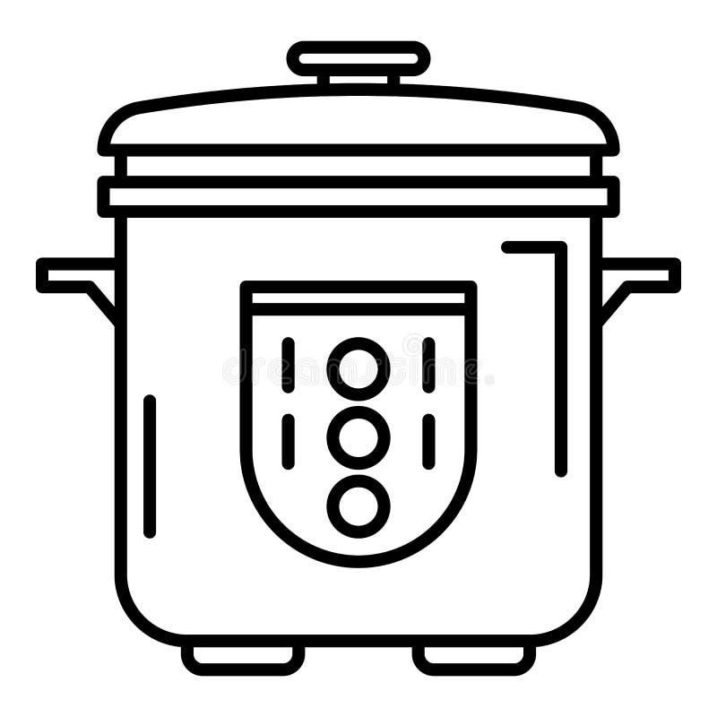 Icona automatica del fornello, stile del profilo royalty illustrazione gratis