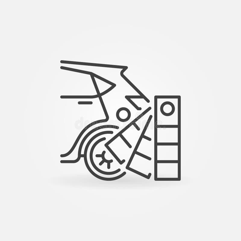 Icona automatica di selezione di colori della pittura illustrazione di stock