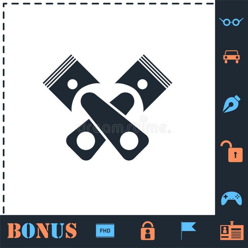 Icona automatica di servizio piana illustrazione di stock