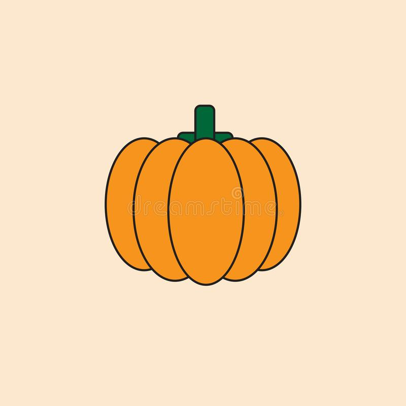 Icona Autumn Harvest Concept della zucca illustrazione vettoriale