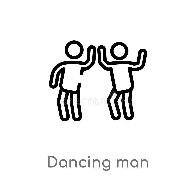 icona ballante di vettore dell'uomo del profilo linea semplice nera isolata illustrazione dell'elemento dal concetto della gente  royalty illustrazione gratis