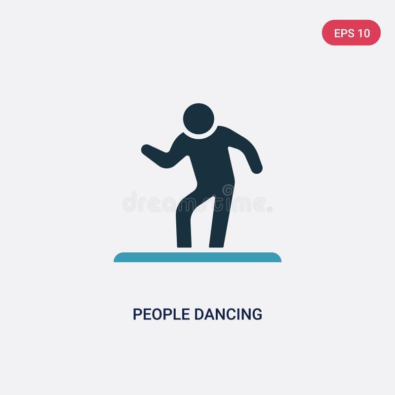 Icona ballante di vettore di due genti di colore dal concetto ricreativo dei giochi il simbolo ballante isolato del segno di vett illustrazione vettoriale