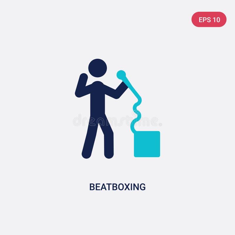 icona beatboxing di vettore di due colori da attività e dal concetto di hobby il simbolo beatboxing blu isolato del segno di vett royalty illustrazione gratis