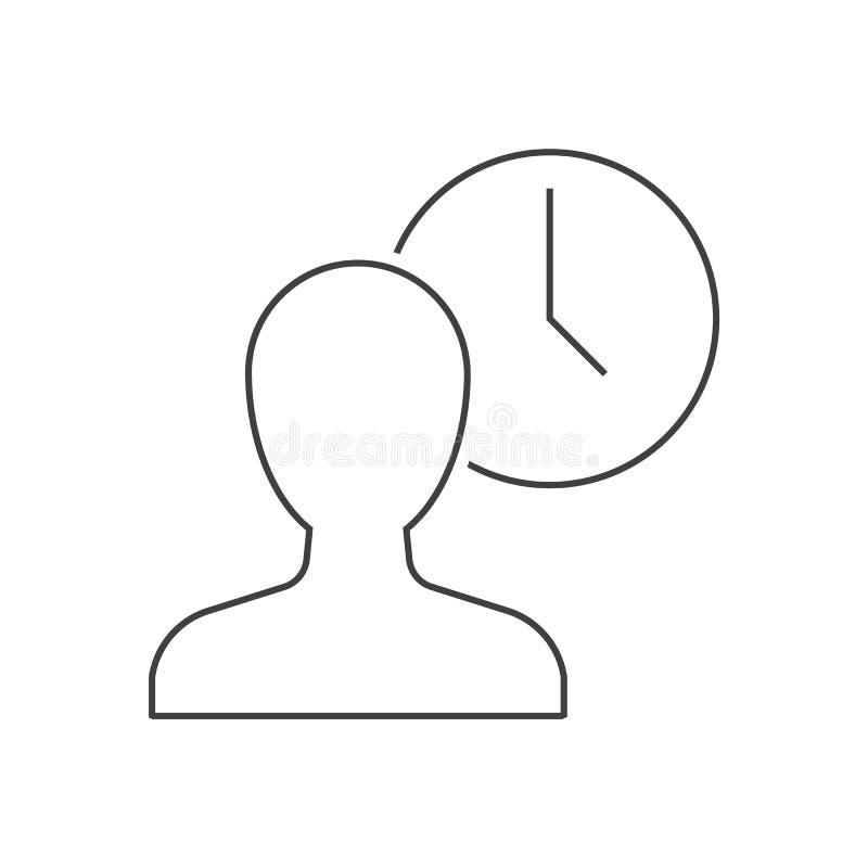 Icona beging del profilo dell'uomo dell'orologio royalty illustrazione gratis