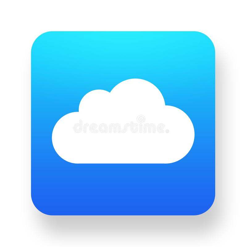 Icona bianca della nuvola illustrazione vettoriale