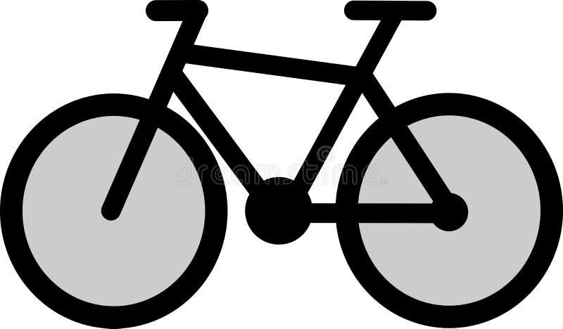 Icona in bianco e nero della bici royalty illustrazione gratis