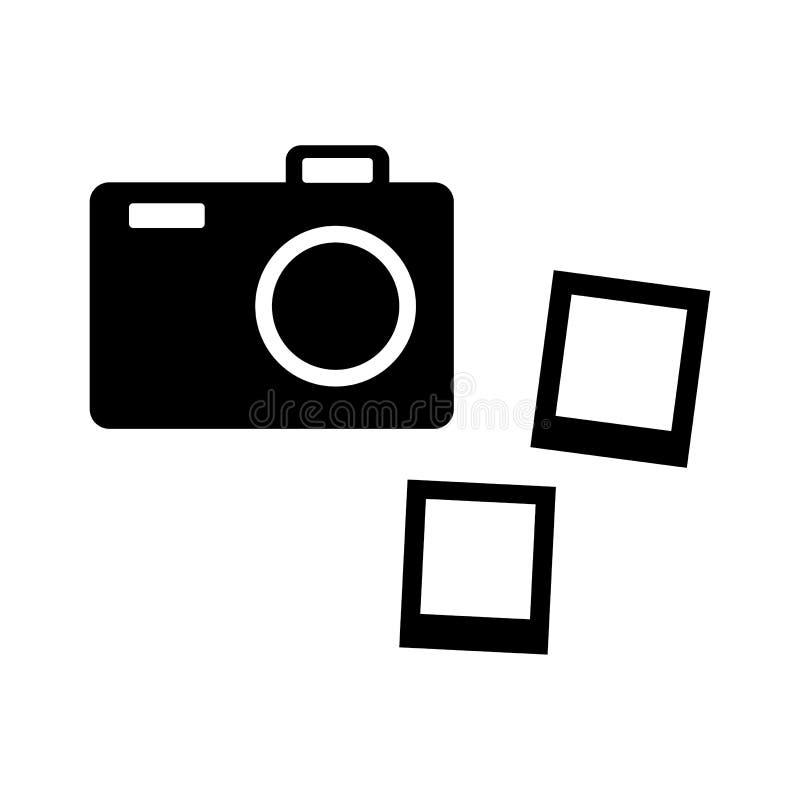 Icona in bianco e nero della macchina fotografica Illustrazione di vettore illustrazione di stock
