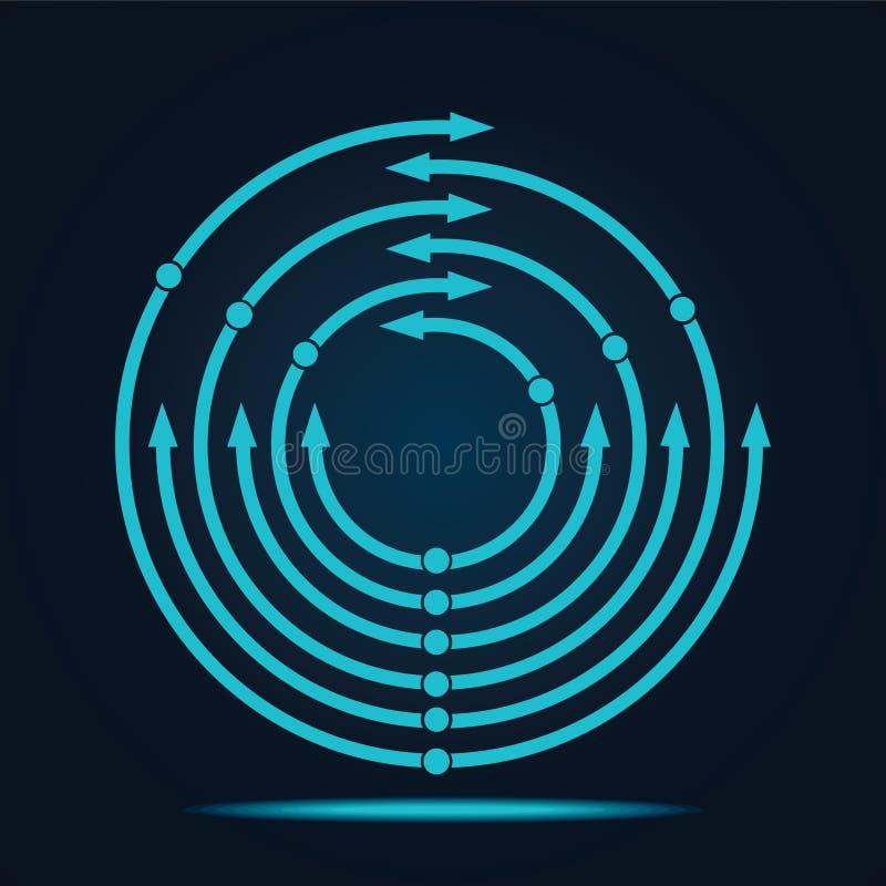 Icona blu astratta della freccia royalty illustrazione gratis