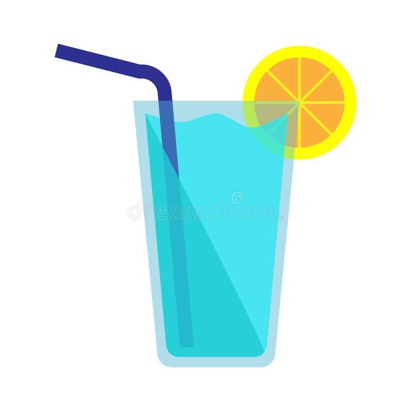 Icona blu del cocktail illustrazione di stock