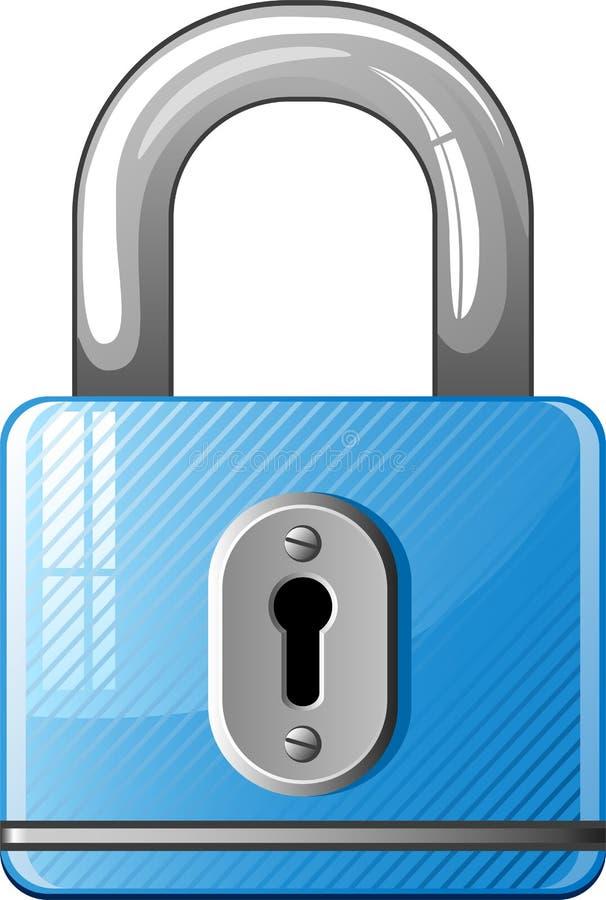 Icona blu del lucchetto illustrazione vettoriale