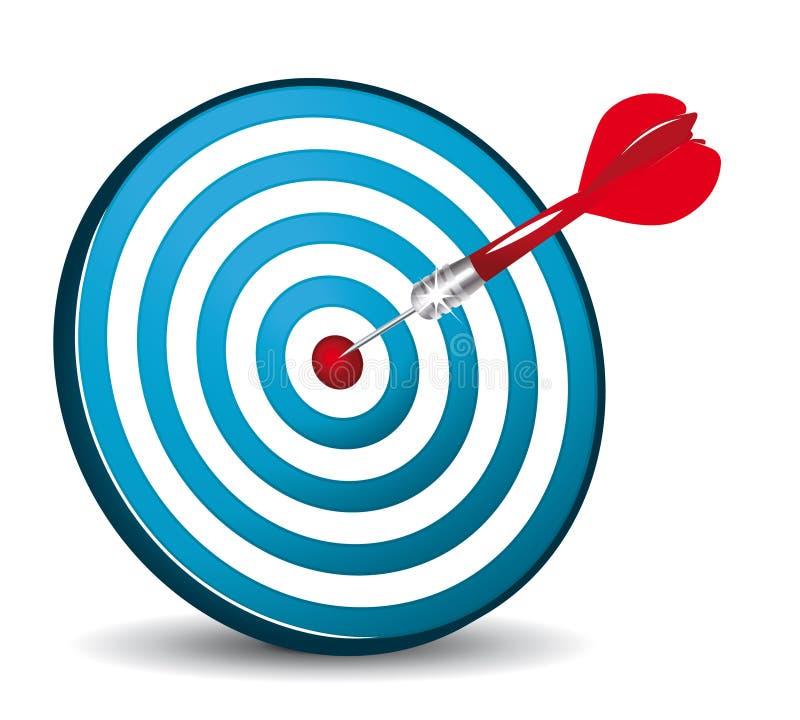 Icona blu dell'obiettivo illustrazione di stock