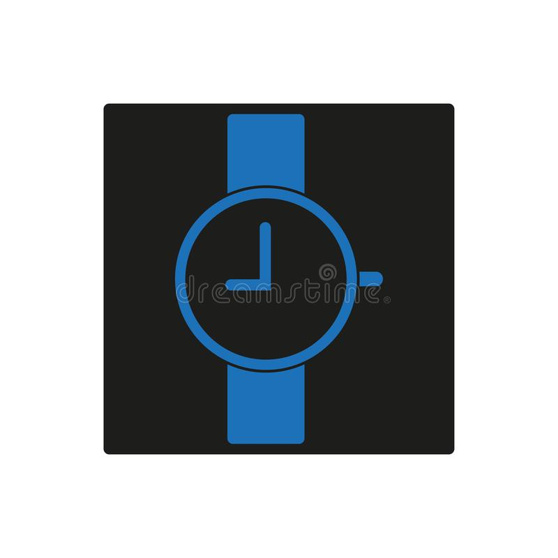 Icona blu dell'orologio, 9 in punto royalty illustrazione gratis