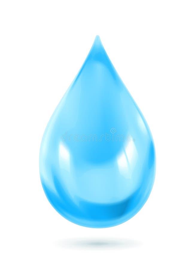 Icona blu della goccia di acqua illustrazione di stock