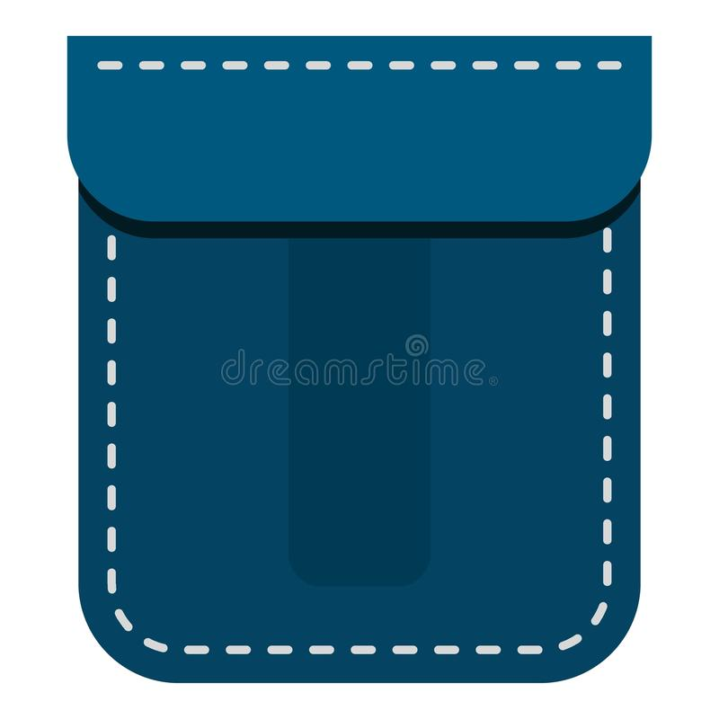 Icona blu della tasca royalty illustrazione gratis