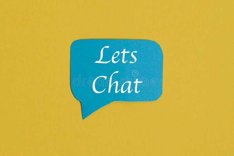 Icona blu di discorso di chiacchierata: un simbolo e un concetto per la conversazione ed il messaggio immagine stock libera da diritti