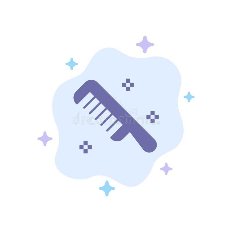 Icona blu pulita sul fondo astratto della nuvola illustrazione vettoriale
