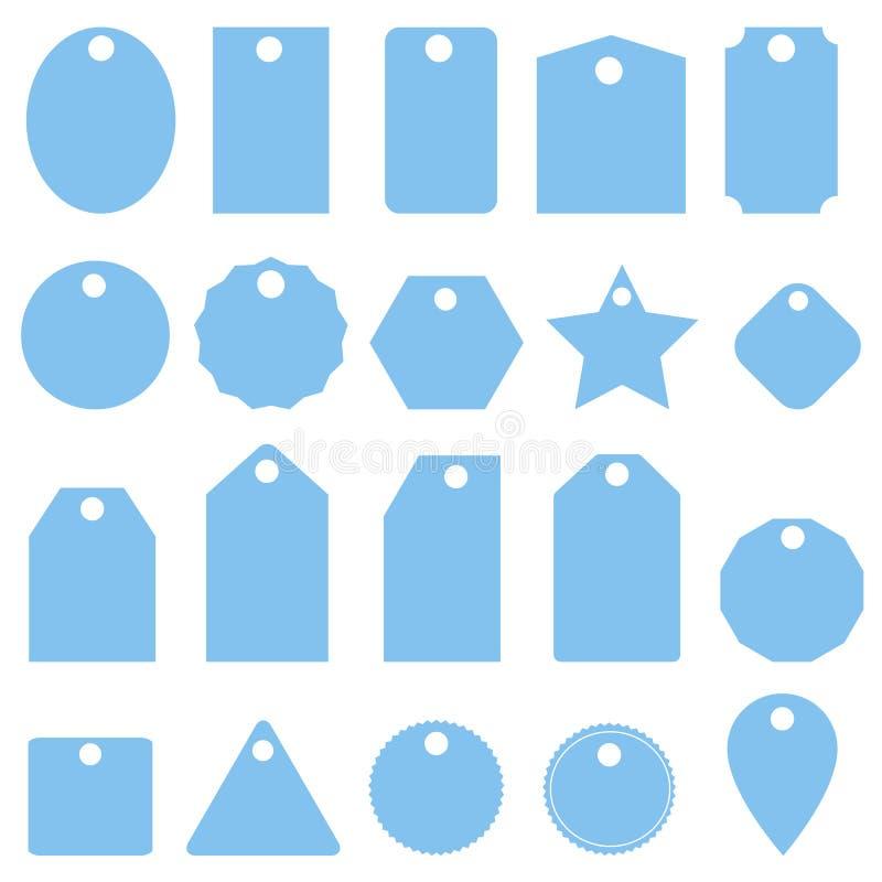 Icona blu stabilita dei prezzi da pagare su fondo bianco Stile piano icona stabilita per la vostra progettazione del sito Web, lo illustrazione vettoriale