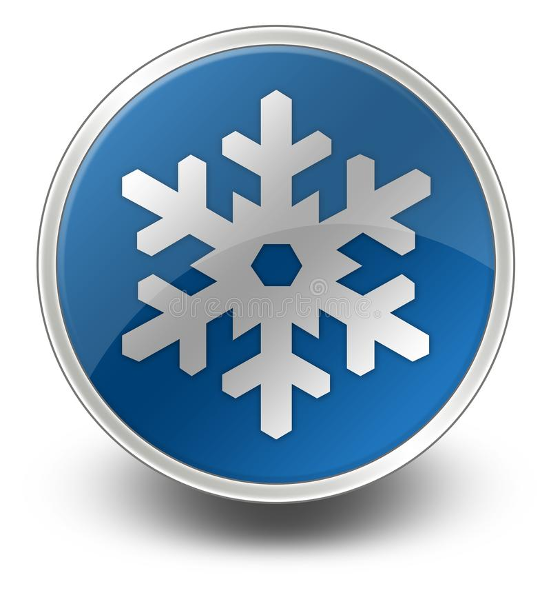 Icona, bottone, ricreazione di inverno del pittogramma illustrazione vettoriale