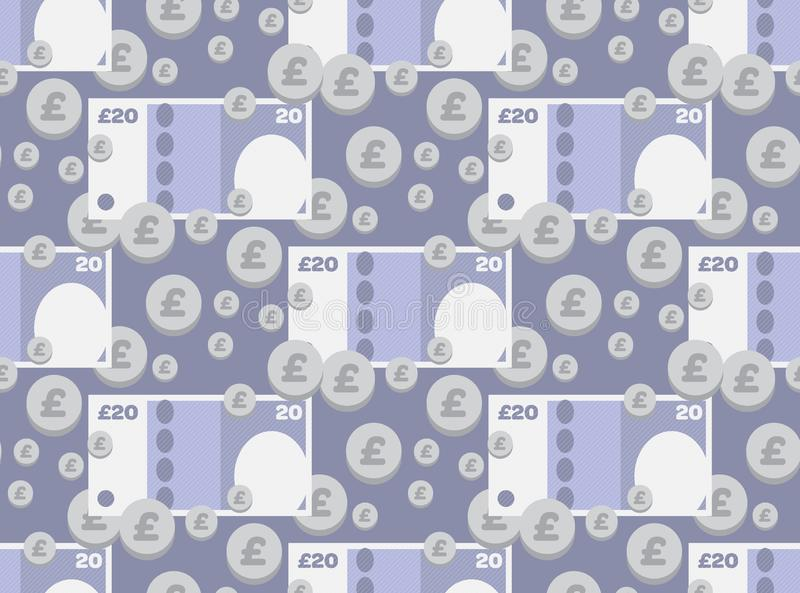 Icona BRITANNICA illustrata dei soldi fotografia stock libera da diritti
