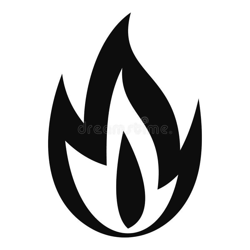 Icona bruciante del fuoco, stile semplice royalty illustrazione gratis