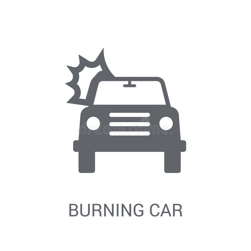 Icona bruciante dell'automobile  illustrazione vettoriale