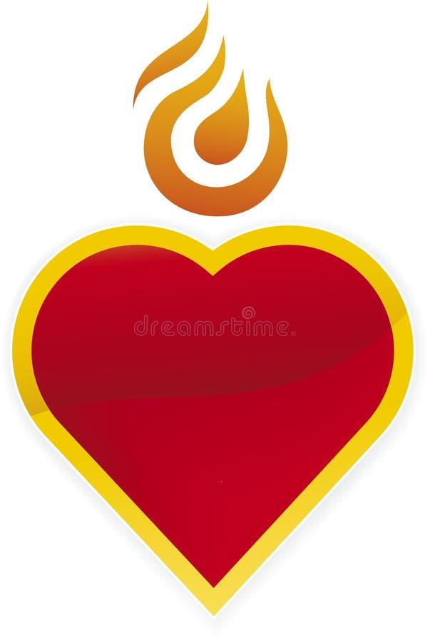Icona Burning del cuore royalty illustrazione gratis