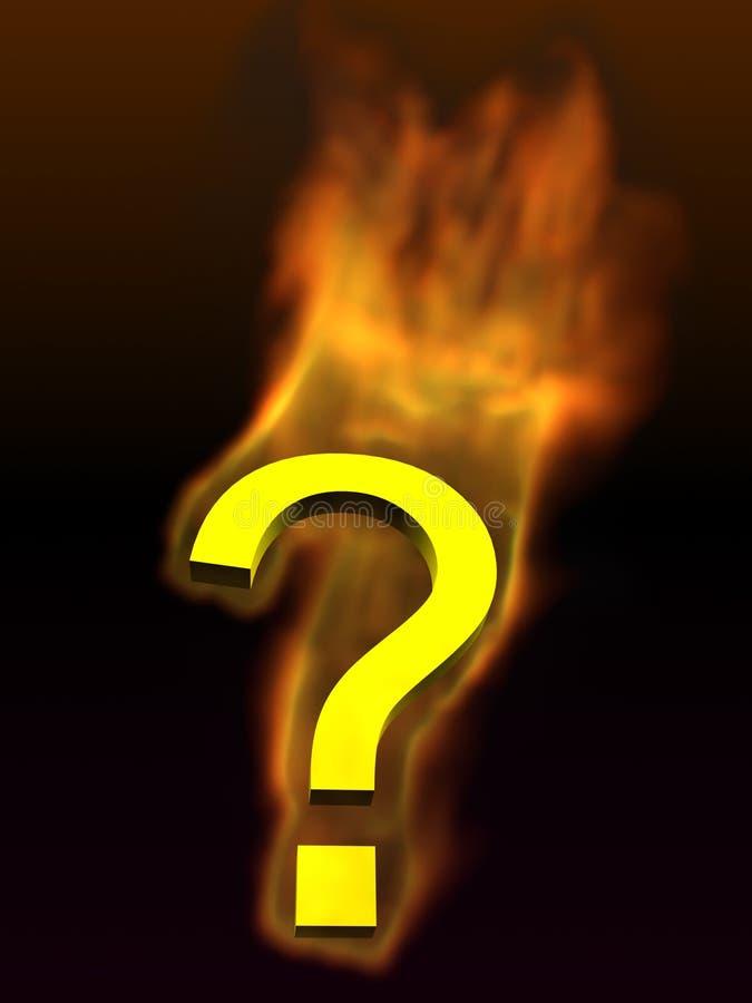 Icona Burning del punto interrogativo illustrazione vettoriale
