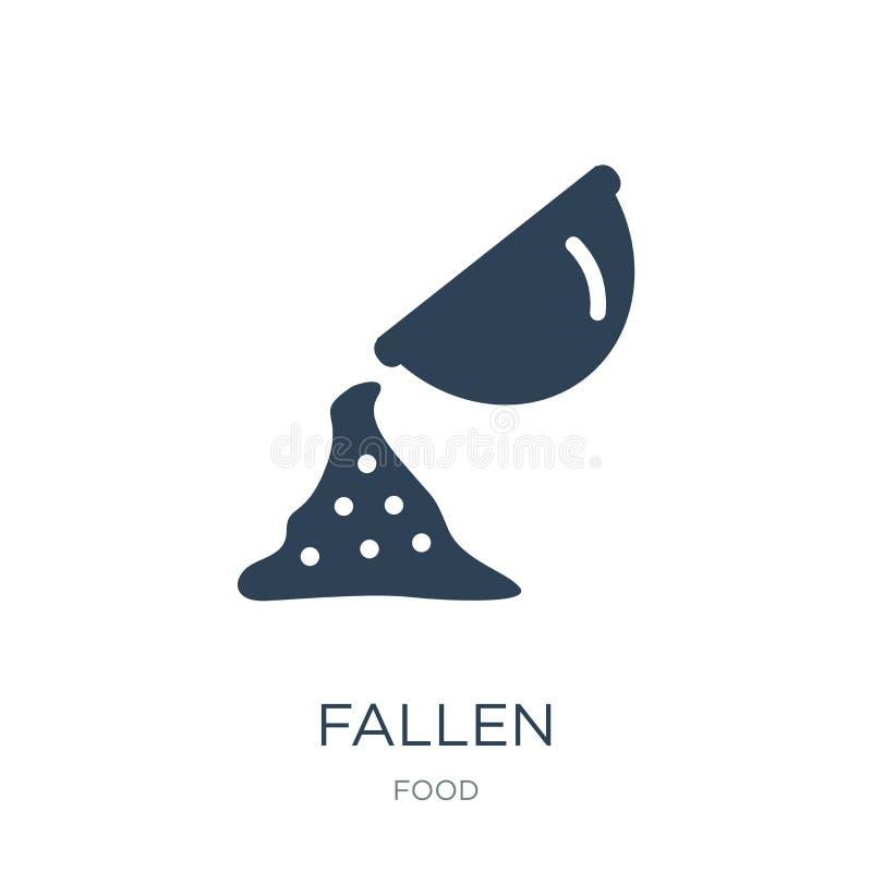 icona caduta nello stile d'avanguardia di progettazione icona caduta isolata su fondo bianco simbolo piano semplice e moderno del illustrazione vettoriale